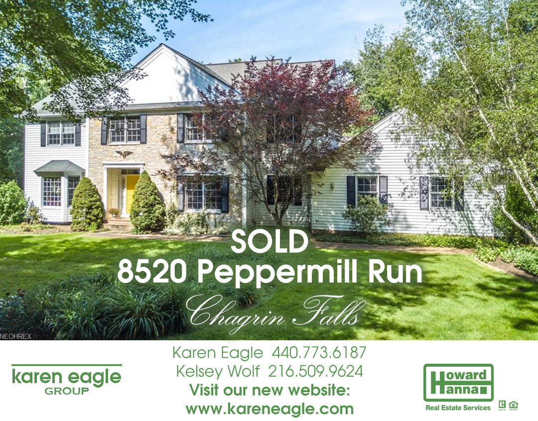 Exterior photo of 8520 Peppermill Run just sold in Chagrin Falls