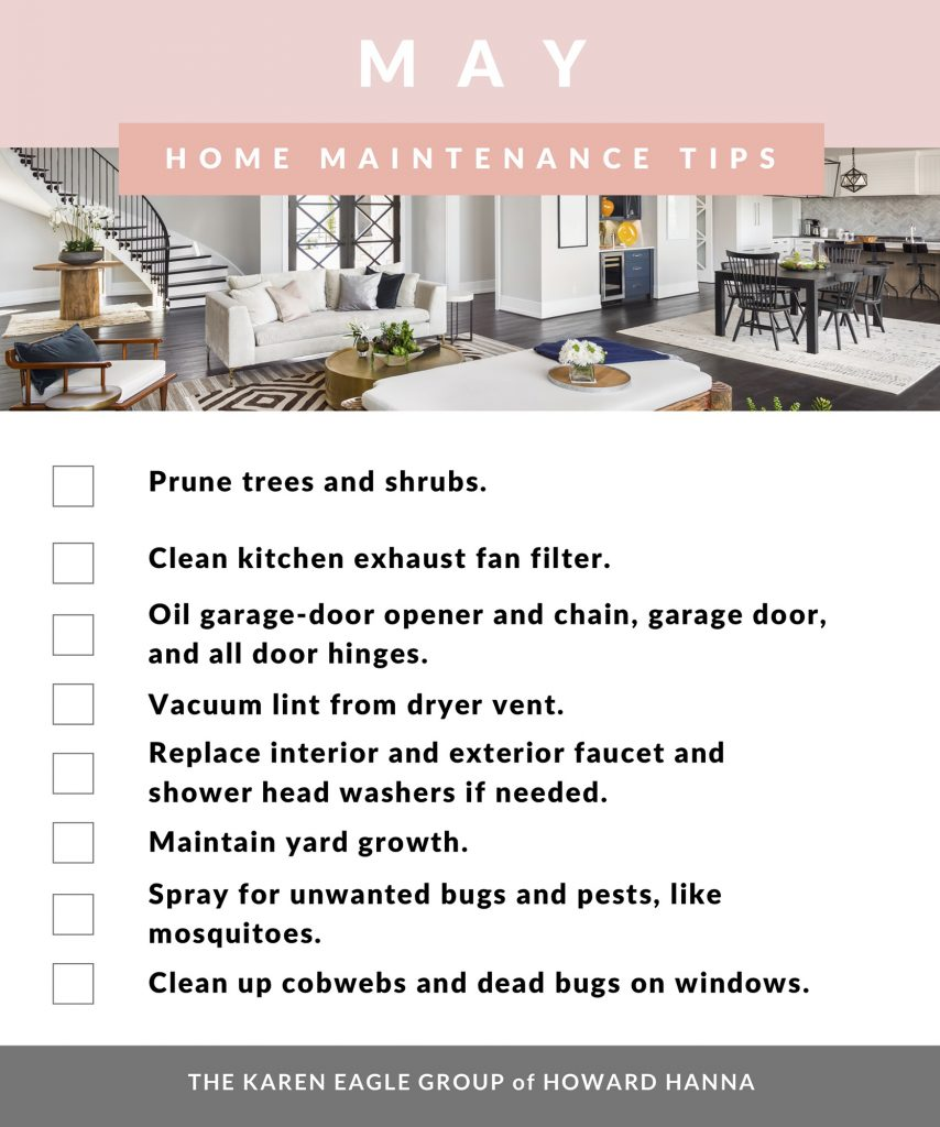 May Home Maintenance Tips