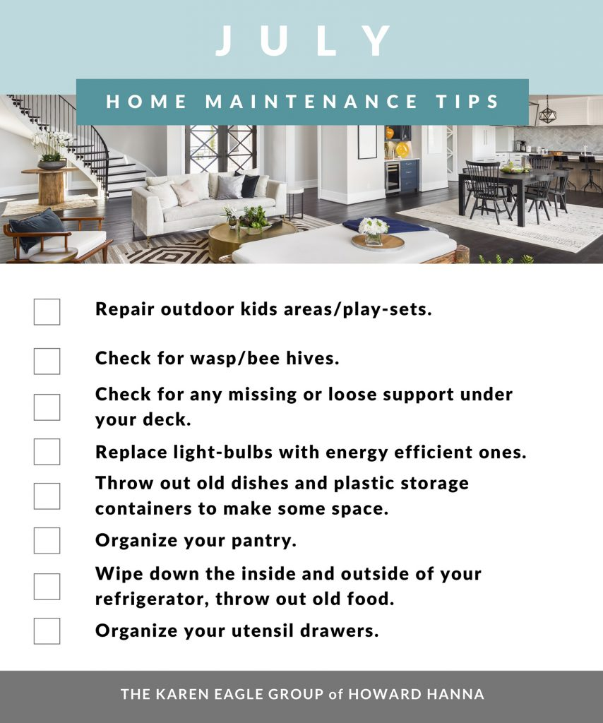 July home maintenance list