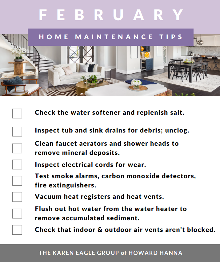 February home maintenance tips