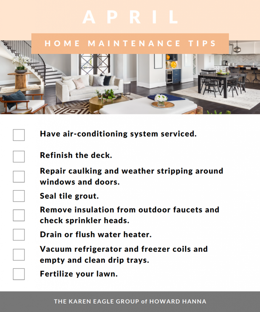 April home maintenance tasks