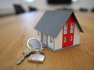house with key attached